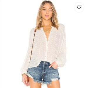 NEW • Free People • Down From The Clouds Top White
